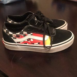 Vans flame shoes